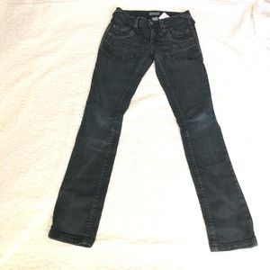 Delias washed black skinny strength jeans